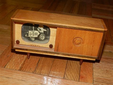 vintage tv stereo cabinet vintage wood wooden dollhouse tv stereo console system