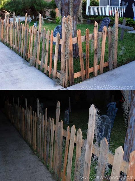 halloween decorations crafted  reclaimed wood