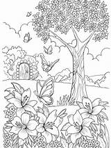 Coloring Garden sketch template