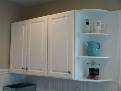Cabinet Shelf - remodelaholic kitchen backsplash tiles now beadboard