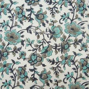 Indian Cotton Voile Fabric Hand Block Print Craft ...