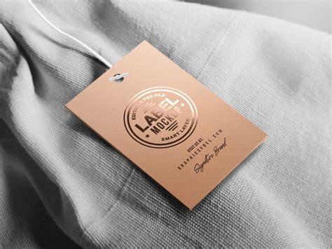 clothing tag label mockup  mockups  barnimages