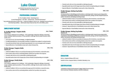 the best resume template based on my 15 years experience