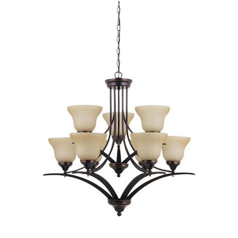 sea gull lighting chandelier sea gull lighting brockton 9 light burnt sienna chandelier