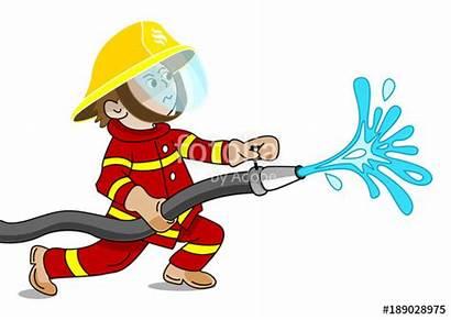 Clipart Fireman Water Fire Webstockreview Hose Holding