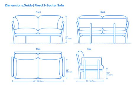 Two Seater Dimensions by Floyd 2 Seater Sofa Dimensions Drawings Dimensions Guide