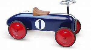 Voiture Enfant Vintage : voiture porteur m tal bleue v hicule pour enfant vilac ~ Teatrodelosmanantiales.com Idées de Décoration