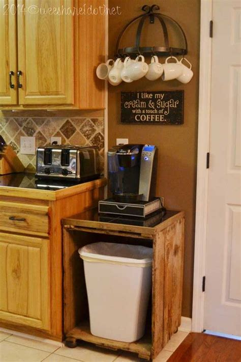 coffee cup holder under cabinet 30 fun and practical diy coffee mugs storage ideas for