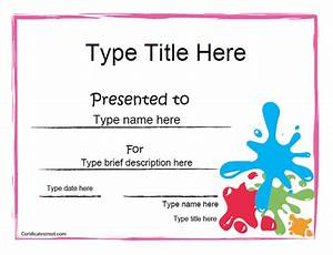 printable art award certificates With certificate street templates blank