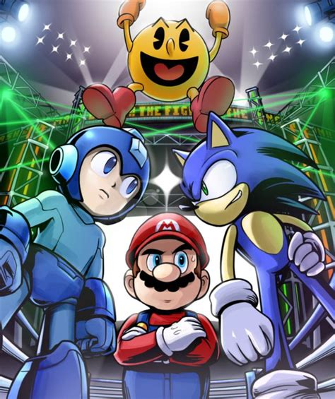 Mario Sonic Mega Man And Pac Man Miscellaneous Video