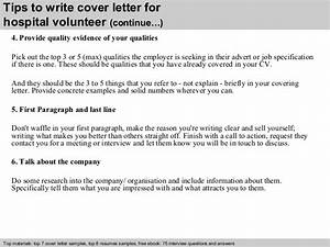 hospital volunteer cover letter With how to write a cover letter for a hospital job