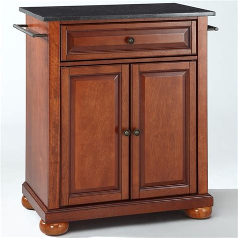 crosley furniture alexandria black granite top cherry