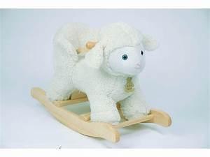 Cheval à Bascule Bebe : histoire d 39 ours bascule b b si ge mouton avec son ceinture de maintien 64 5 27 48 ~ Teatrodelosmanantiales.com Idées de Décoration