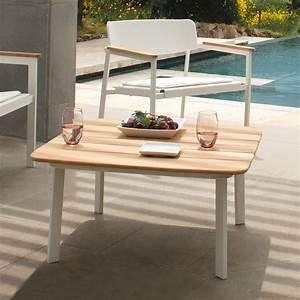 Plan De Travail Carré : shine b table basse emu en aluminium plan de travail carr pour jardin ~ Melissatoandfro.com Idées de Décoration