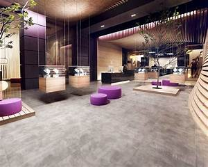 Grey, And, Wood, In, A, Modern, Hotel, Lobby