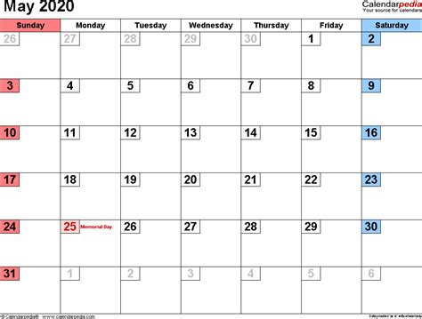 calendars word excel