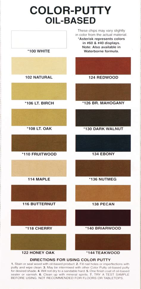 paint colors putty color putty based