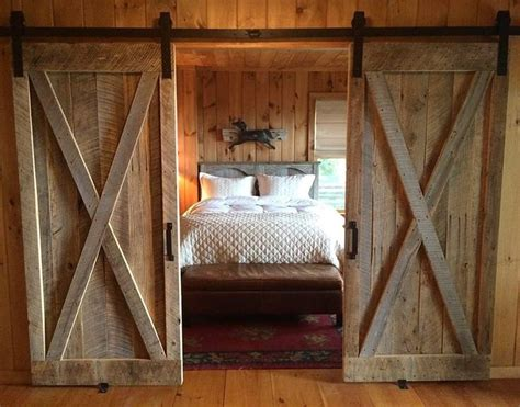 We Love This Gorgeous Rustic Bedroom. The Bi-parting Barn