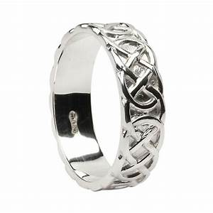 silver round celtic knot wedding ring With celtic silver wedding rings