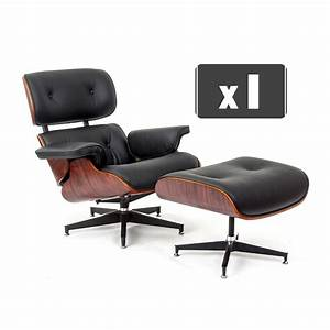 Eames Chair Lounge : replica charles eames lounge chair ottoman in black leather rosewood ebay ~ Buech-reservation.com Haus und Dekorationen