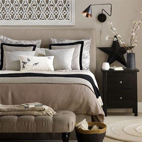 beige  black bedroom home decorating ideas