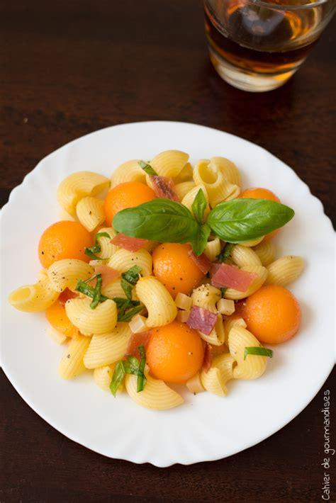 salade de pate au jambon blanc salade de p 226 tes au melon jambon cru et parmesan cahier de gourmandises
