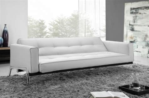 leather sofa beds modern white