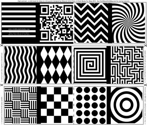 Abstract Shapes Svg by High Contrast Abstract Shapes For Baby Fabric Debsch