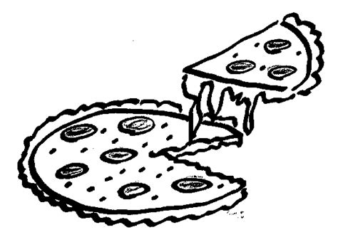pizza clipart black and white pizza