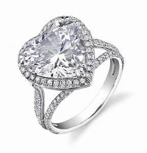 show your love by giving a heart shaped engagement ring With heart diamond wedding rings