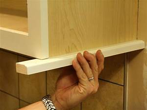 How to Install a Kitchen Cabinet Light Rail how-tos DIY
