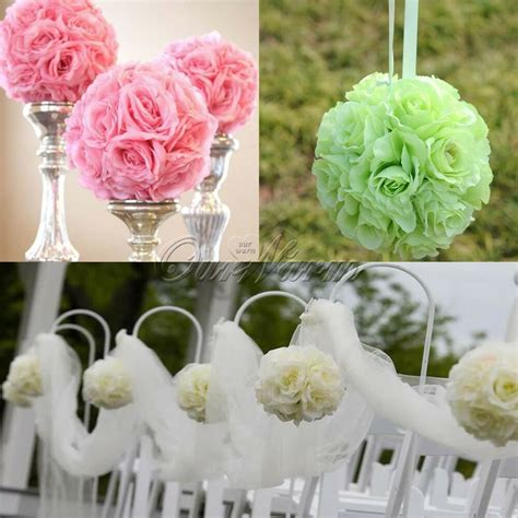 pcs artificial flower kissing balls wedding party home