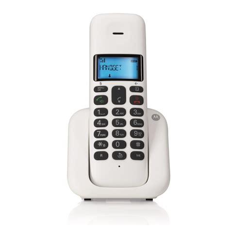 telephone fixe sans fil t301 blanc dect design noriak