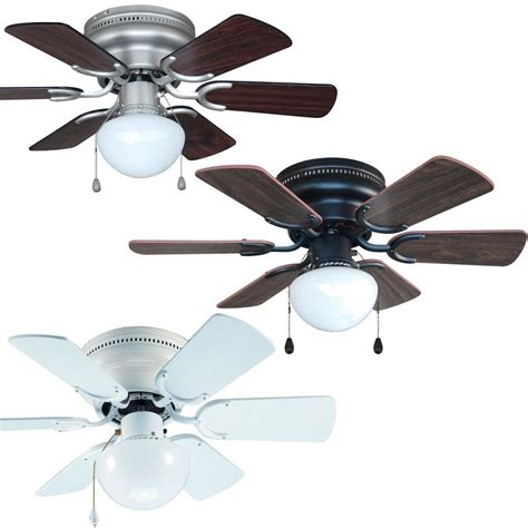 flush ceiling fan with light 30 inch flush mount hugger ceiling fan w light kit satin