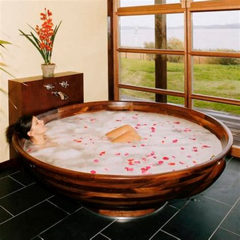 Oversized Tub by Wooden Bathtubs For Modern Interior Design And Luxury