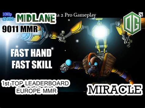 dota  og miracle play  tinker fast hand mmr