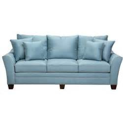 slumberland furniture ashford collection light blue sofa