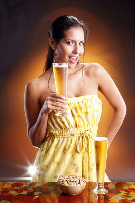 wallpaper girl  glass beer beautiful girl
