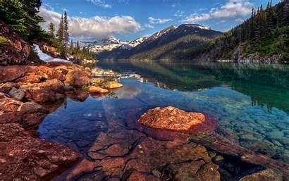 Canada Landscape Water Mountain Kanada Landschaft Desktop