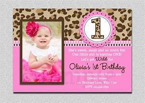 leopard birthday invitation 1st birthday party invitation With 1st birthday invitation letter