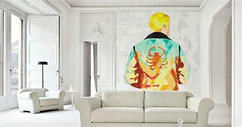 polygon art  wall murals cool material