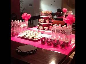 decoration table bapteme fille kit galerie avec decoration With salle de bain design avec décoration d anniversaire minnie