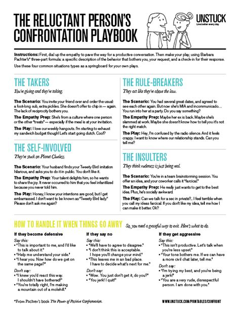 unstuck printable and pin able worksheet the reluctant