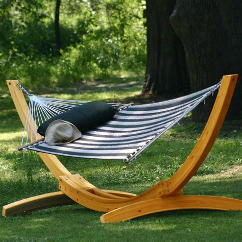 Wooden Hammock by Deluxe Arc Cypress Hammock Stand On Sale Sar