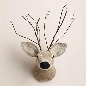 Wool deer head wall decor world market