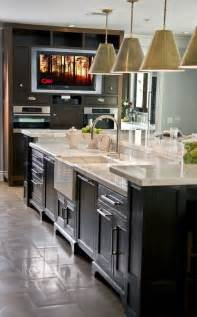 island kitchen sink two tiered kitchen island ideas