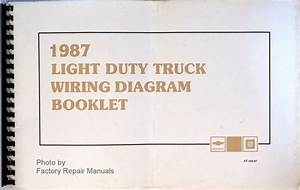 1987 Chevy Light Truck Suburban Blazer Van Wiring Diagrams Original