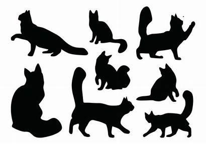 Cat Silhouette Clipart Vectors Gato Silhueta Cheetah
