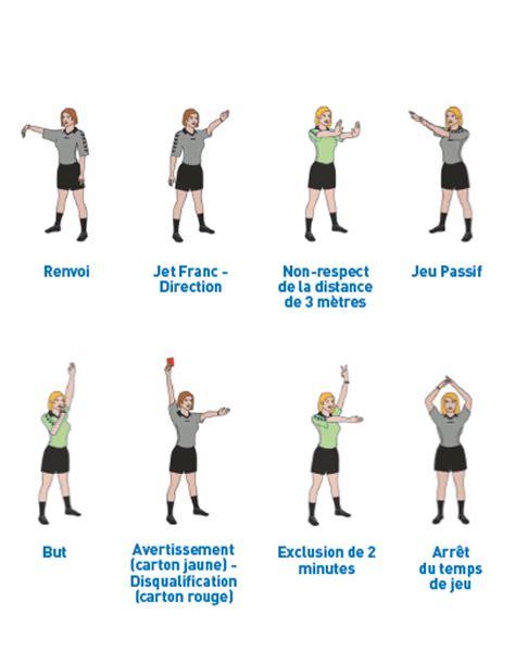 les gestes de larbitrage club handball handball club