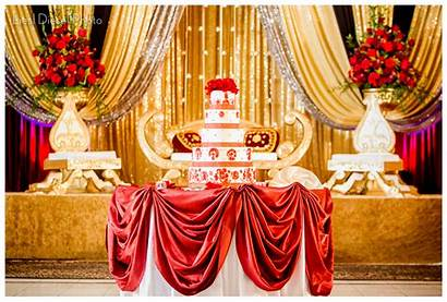 Gold Decor Indian Muslim Shaadi Reception Cake